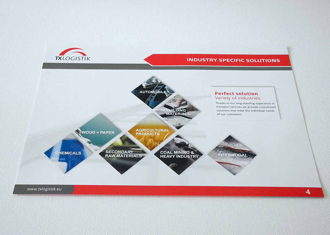 TX Logistik AG - Corporate Design, Print, Imagemappe