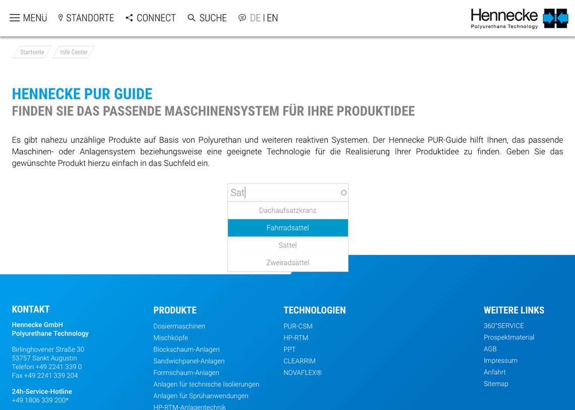 Hennecke Group - Responsive Webdesign, CMS Drupal, SEO Suchmaschinenoptimierung, PUR-Guide, PUR-Finder